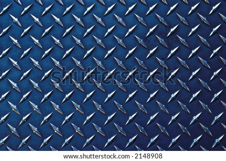 gray colored diamond plate background - stock photo