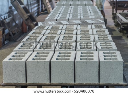 Gray concrete construction of block industrial Photo