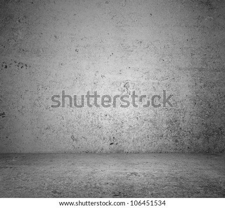 gray concrete  floor and wall - stock photo
