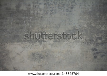 Gray concrete wall. Cement wall - stock photo