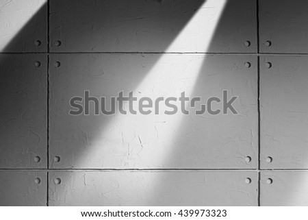 Gray Concrete Wall With Beam Light and Shadow Texture