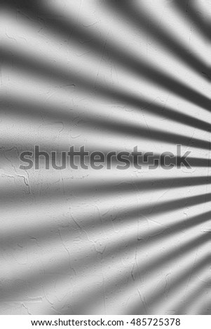 Gray Concrete Wall With Blinds Shadow Texture