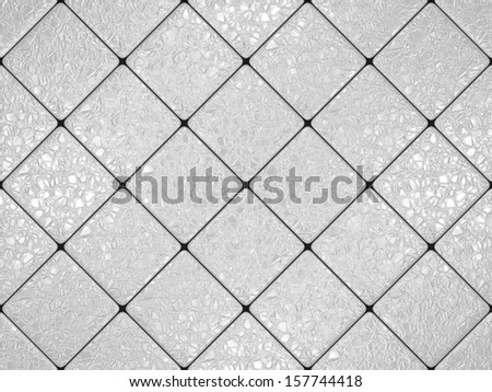 Gray cracked tiles - stock photo