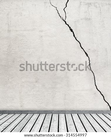 gray dirty  grunge texture stucco wall and wooden floor