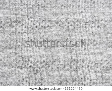 Gray fabric texture. Clothes background. Close up - stock photo