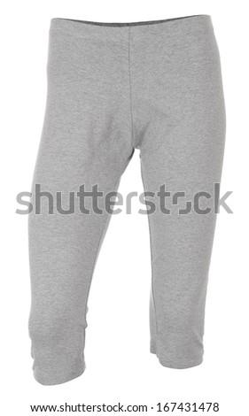 Gray female sweatpants - stock photo