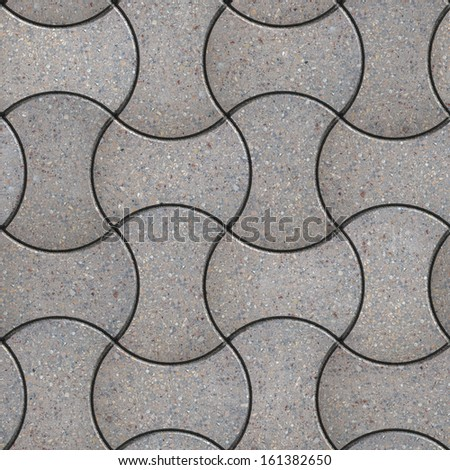 Gray Figured Pavement as Truncated Circle. Seamless Tileable Texture. - stock photo
