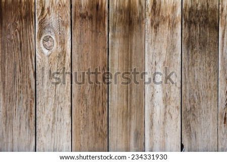 Gray finished weathered fence boards for use as a texture - stock photo