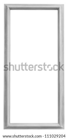 Gray frame isolated on white background - stock photo