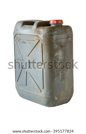 Gray gallon on white isolate background