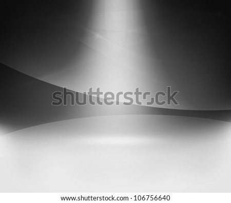 Gray Glow Abstract Background - stock photo