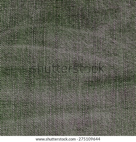 gray-green denim texture closeup as background for design-works - stock photo