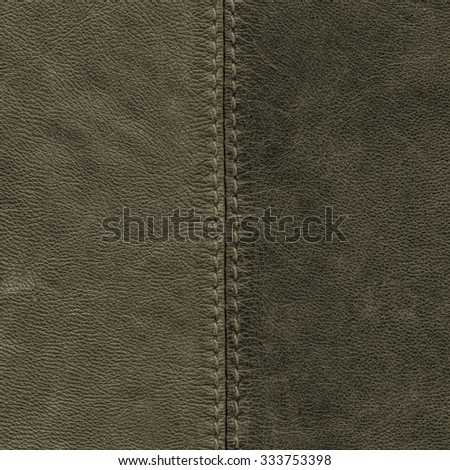 gray-green leather background of two tones