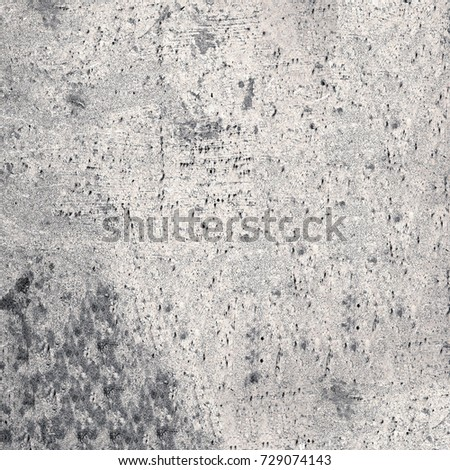Gray grunge background. Monochrome abstract texture. Vintage stains, cracks, chips, spray