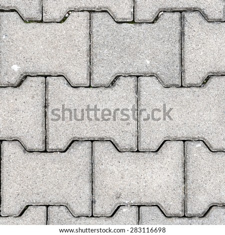 Gray H Shaped Paving Slabs. A texture with old paving. High resolution - stock photo