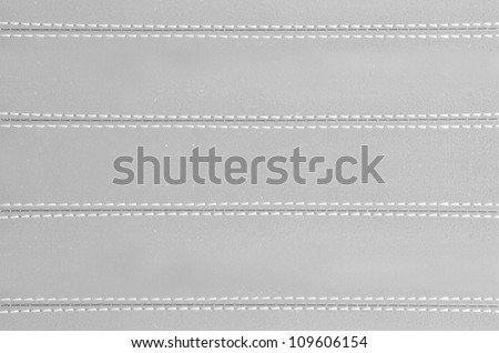 gray  horizontal stitched leather background   , art textures - stock photo