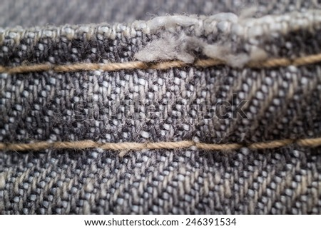 gray jeans fabric texture - stock photo