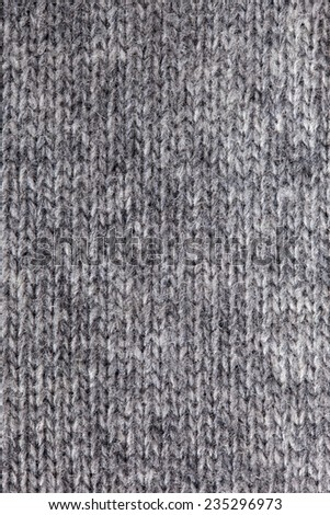 Gray knitted vertical textured background