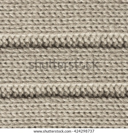 Gray Knitted Wool Background.