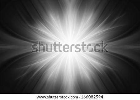 Gray luminous rays background - stock photo