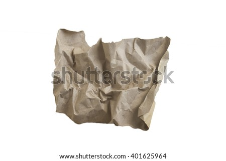 gray paper isolate on white background