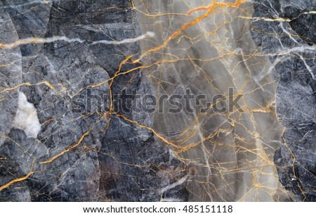 Gray patterned natural of dark marble (Gold Russia) texture background.