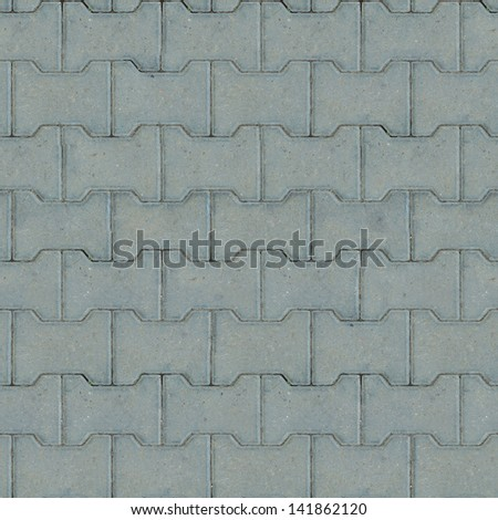 Gray Paving Slabs, Sidewalk Coverage. Seamless Tileable Texture. . - stock photo