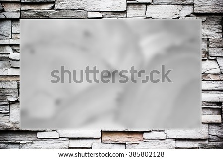 Gray retro rock frame on gray cement background