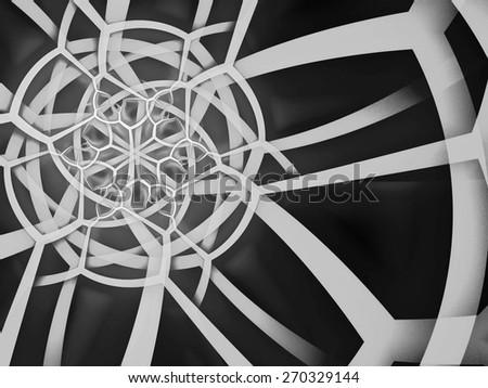 gray round ornament. mandala design - stock photo