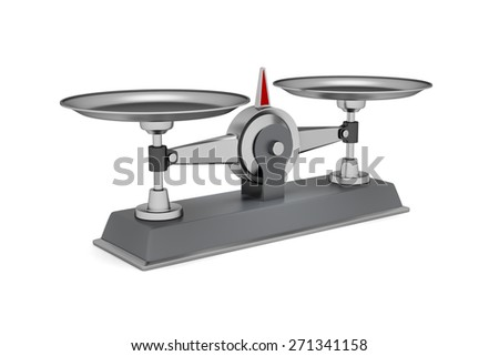 Gray scales on a white background. 3d render  - stock photo