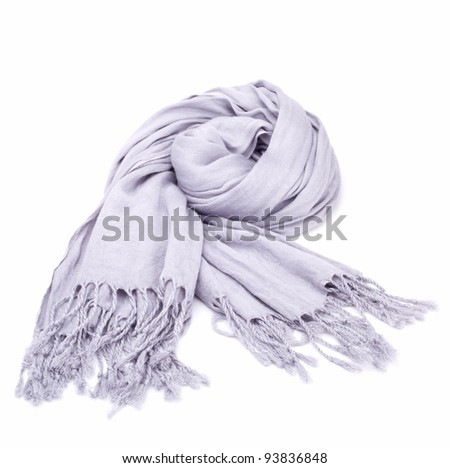 Gray scarf - stock photo