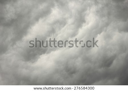 gray sky during thunderstorm - stock photo