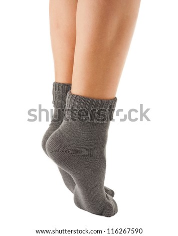 gray socks isolated on white background