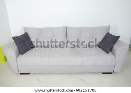 gray sofa on white background