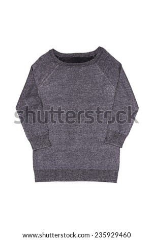 gray sweater on a white background