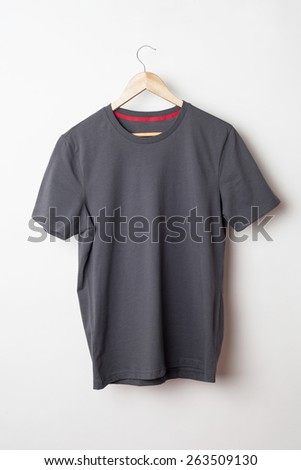 Gray t-shirt template ready for your graphic design. - stock photo