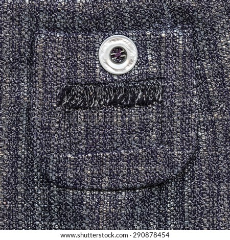 gray textile texture decorated with  pocket and button