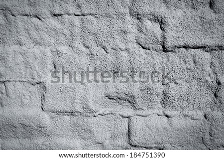 Gray texture wall - with cement and bricks - stock photo