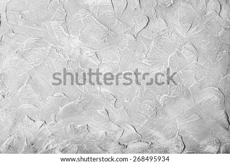 Gray textured wall background - stock photo