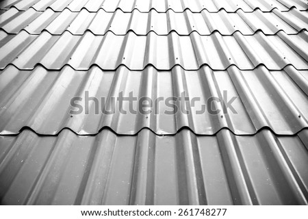 Gray Tile Roof Floor Background. Closeup Roofing Texture Pattern. Materials  To Build A House