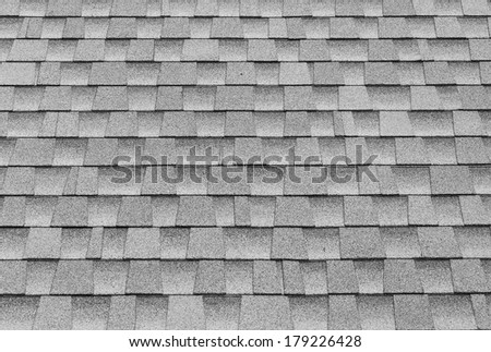 gray tiles roof for background. - stock photo