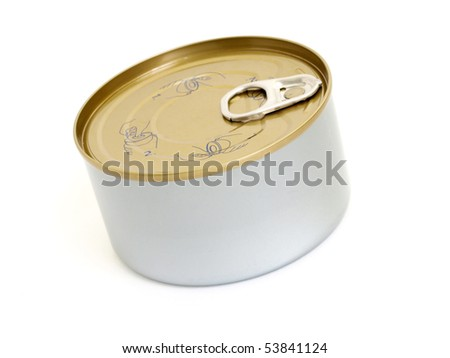 gray tin can isolated object
