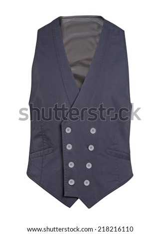 gray waistcoat isolated on white background - stock photo