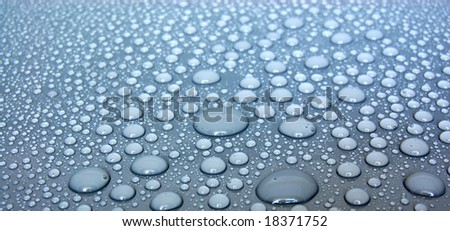 Gray Water Drops - stock photo