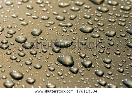 Gray water drops background