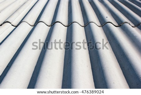 Gray wavy slate roof pattern background