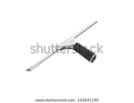 Gray wiper for cleaning window isolated  - stock photo