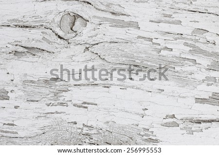 Gray wooden background of weathered distressed rustic wood with faded white paint