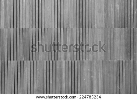 GRAY WOODEN FENCE - stock photo