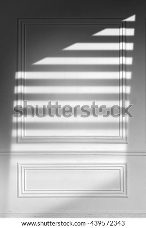 Gray Wooden Luxury Wall With Triangle and Blinds Shadow Texture